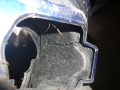 Detailaufnahme Stoßstange demontiert - Deformationselement